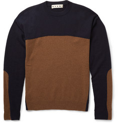 Marni - Slim-Fit Colour-Block Cashmere Sweater
