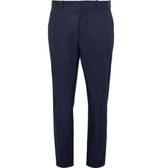 Marni - Slim-Fit Cropped Brushed-Cotton Trousers
