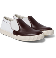Marni - Canvas and Leather Slip-On Sneakers