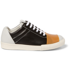 Marni Rubber-Strap Leather Sneakers