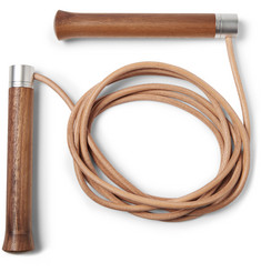 Berluti - + Hock Design Leather, Wood and Steel Skipping Rope