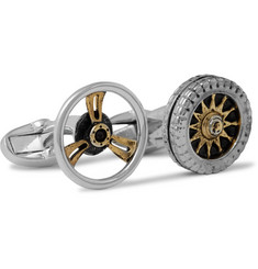 Paul Smith Shoes & Accessories Car and Steering Wheel Silver-Tone Cufflinks