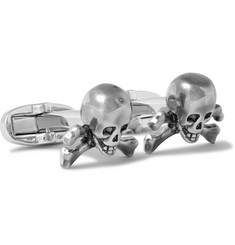 Paul Smith Shoes & Accessories Skull and Crossbones Silver-Tone Cufflinks