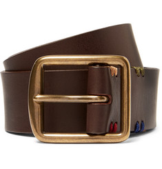 Paul Smith Shoes & Accessories - 3.5cm Brown Leather Belt