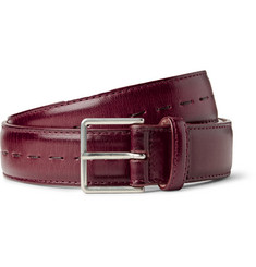 Paul Smith 3cm Burgundy Leather Belt
