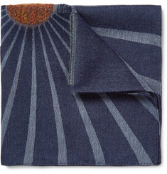 Paul Smith Embroidered Gauze Pocket Square