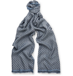 Paul Smith Shoes & Accessories Reversible Polka-Dot Jacquard Scarf