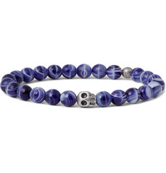 Paul Smith Skull Glass Bead Bracelet