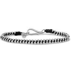 Paul Smith Shoes & Accessories Silver and Cord Bracelet