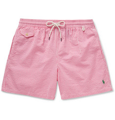 Polo Ralph Lauren Traveler Striped Seersucker Swim Shorts