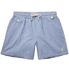 Polo Ralph Lauren - Traveler Mid-Length Striped Swim Shorts