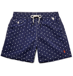 Polo Ralph Lauren - Traveler Mid-Length Polka-Dot Swim Shorts