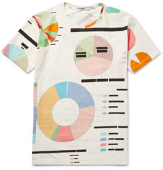 Chalayan - Slim-Fit Statistics Printed Stretch-Cotton Jersey T-Shirt