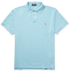 Polo Ralph Lauren - Slim-Fit Mélange Cotton-Piqué Polo Shirt