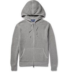 Polo Ralph Lauren - Zip-Up Waffle-Knit Cotton and Cashmere-Blend Hoodie
