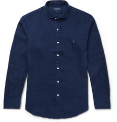 Polo Ralph Lauren Slim-Fit Cutaway-Collar Linen Shirt