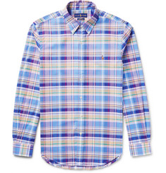 Polo Ralph Lauren Slim-Fit Checked Stretch-Cotton Oxford Shirt