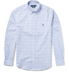 Polo Ralph Lauren Slim-Fit Button-Down Collar Checked Stretch-Cotton Oxford Shirt