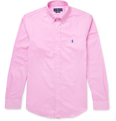 Polo Ralph Lauren Slim-Fit Button-Down Collar Cotton-Twill Shirt