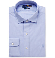 Polo Ralph Lauren Blue Slim-Fit Cotton-Poplin Shirt
