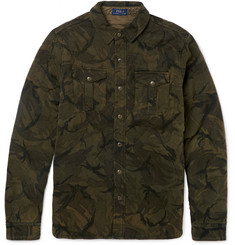 Polo Ralph Lauren Slim-Fit Quilted Camouflage-Print Cotton Shirt Jacket