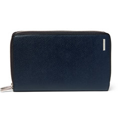 Hugo Boss Grained-Leather Travel Wallet
