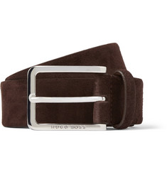 Hugo Boss - 3.5cm Brown Suede Belt