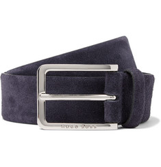 Hugo Boss -  3.5cm Navy Suede Belt
