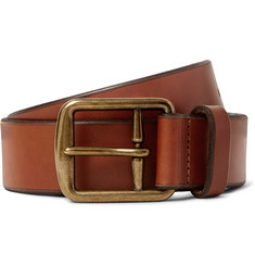Polo Ralph Lauren 3.5cm Brown Leather Belt