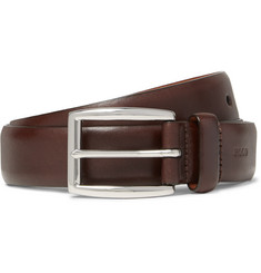 Polo Ralph Lauren 2.5cm Brown Leather Belt