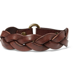 Polo Ralph Lauren Braided Leather Bracelet