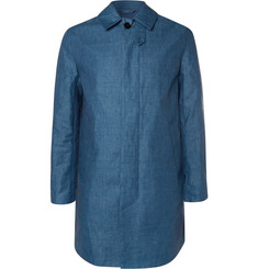 Mackintosh Linen-Chambray Dunoon Coat