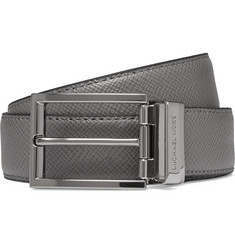 Michael Kors - 3cm Grey Reversible Grained-Leather Belt