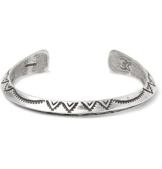 Peyote Bird Buffalo Stamped Sterling Silver Cuff