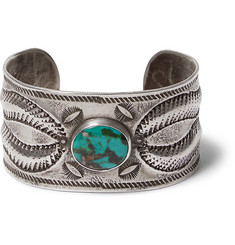 Peyote Bird Buffalo Sterling Silver Turquoise Cuff