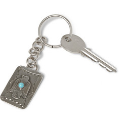 Peyote Bird Joe Eby Sterling Silver Turquoise Keychain