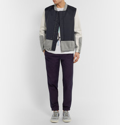 Tim Coppens Leather and Shell Bomber Jacket