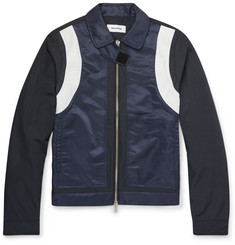 Tim Coppens - Slim-Fit Leather-Trimmed Shell Jacket