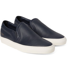 Common Projects - Perforated Leather Slip-On Sneakers