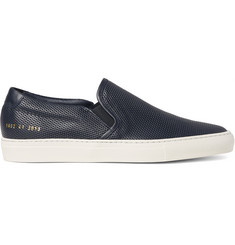 Common Projects Perforated Leather Slip-On Sneakers