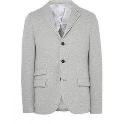 Wooster + Lardini - Grey Slim-Fit Loopback Cotton-Blend Jersey Blazer