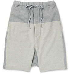 Wooster + Lardini - Panelled Cotton-Blend Shorts