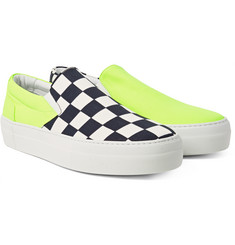 Wooster + Lardini - + Greats Checkerboard Canvas Slip-On Sneakers