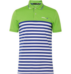 RLX Ralph Lauren Striped Stretch-Piqué Polo Shirt