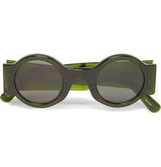 Dries Van Noten Round-Frame Acetate Sunglasses