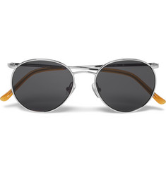 Dries Van Noten Round-Frame Metal Sunglasses