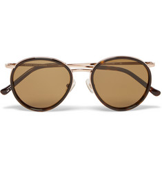 Dries Van Noten Round-Frame Tortoiseshell Acetate and Metal Sunglasses