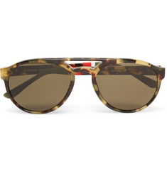 Orlebar Brown Aviator-Style Tortoiseshell Acetate Sunglasses