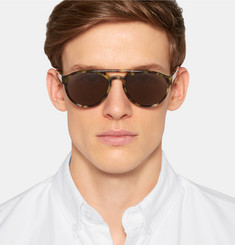 Orlebar Brown - Aviator-Style Tortoiseshell Acetate Sunglasses
