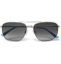 Orlebar Brown Square-Frame Metal Sunglasses